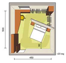 Camere studio tecnico e catastale arch borsani e geom for Planimetrie della cabina 4 camere da letto